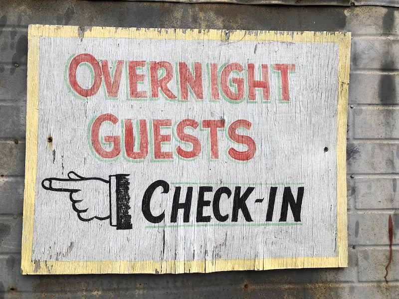 story inn check in sign
